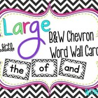 LARGE Black and White Chevron Word Wall Words {Editable}