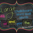 LARGE Bright Chalkboard Word Wall Words {Editable}