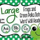 LARGE Frog and Green Polka Dot Wall Headers {Two Size Choices}