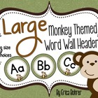 LARGE Monkey Themed Wall Headers {Two Size Choices}