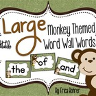 LARGE Monkey Themed Word Wall Words {Editable}