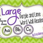 LARGE Purple and Lime Word Wall Headers {Two Size Choices}