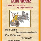LATIN Phrases in English Vocabulary: Common Core Aligned W