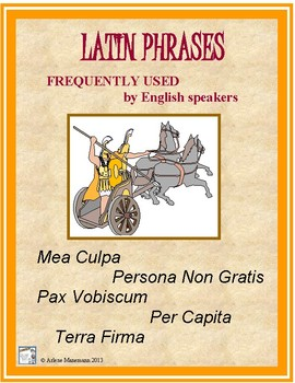 LATIN Phrases in English Vocabulary: Worksheets and Activity