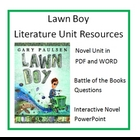 &quot;LAWN BOY&quot;, by Gary Pauslen, Entire Unit of Resources on CD!