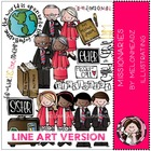 LDS missionary LINE ART bundle by melonheadz