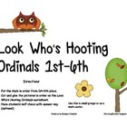 LOOK WHO&#039;S HOOTING ORDINAL NUMBERS 1ST-6TH