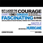 LOOKING FOR ALASKA Poster - Hurricane