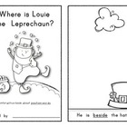 LOUIE THE LEPRECHAUN: Interactive Reader - Position Words!