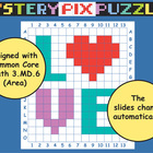 LOVE Graph Mystery Pix {Area Powerpoint}