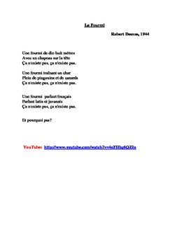 La Fourmi poem by Robert Desnos