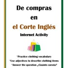 La Ropa Internet Activity - Shopping at the Corte Inglés