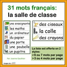 La Salle de Classe - French Vocabulary Word Wall of Classr
