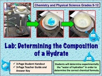 Lab: Composition of a Hydrate (High School Chemistry or Ph