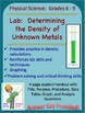 Lab: Determining the Density of Unknown Metals