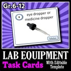 Chemistry Lab Equipment - Task Cards