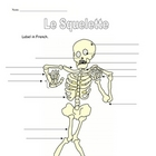 Label Skeleton Body Parts in French:  Great for Halloween 
