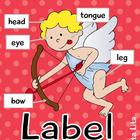 Label Valentine Kids