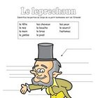 Label the Leprechaun:  French Body Parts