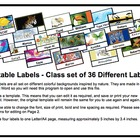 Labels Editable Nature Theme 36 Different Labels