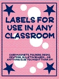 Labels! Labels! Labels to Start the Year!