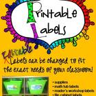 Labels - R.E.A.L. pictures on each label - EDITABLE Classr