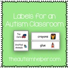 Labels for an Autism Classroom