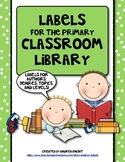 Labels for the Primary Classroom Library