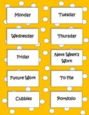 Labels to Organize Paperwork - Yellow