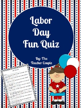 Labor Day Fun Quiz