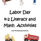 Labor Day K-2 Literacy and Math Activities