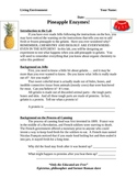 Laboratory activity- Enzymes in Pineapple and their effect