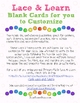 Lace &amp; Learn Cards for you to Customize