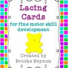 Lacing Cards - for fine motor skill development