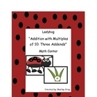 "Ladybug ""Addition with Multiples of 10: Three Addends"" Mat"
