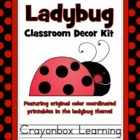 Ladybug Classroom Decor Kit
