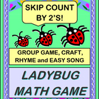 """Ladybug Dance!"" - Game, Craft, and Skip Counting by 2's!"