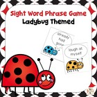Ladybug Dolch Sight Word Phrases Game Grades 2-3