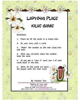 Ladybug Place Value Game