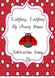 Subtraction from 20 - Ladybug theme