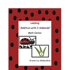 "Ladybug ""Three Addend Addition"" Math Center"