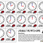 Ladybug Time Memory Match Card Game - HOUR Version