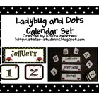 Ladybug and Dots Themed Calendar Set