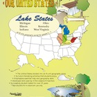 Lake States-&#039;Our United States Series&#039; 32-Page Lesson Plan