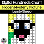 Lamb Sheep Hundreds Chart Hidden Picture Activity for Farm