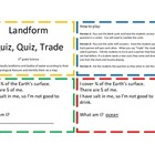 Landform Quiz Quiz Trade Game/Center
