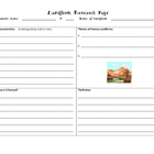 Landform Research Organizer