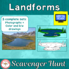 Landform Scavenger Hunt with bonus matrix