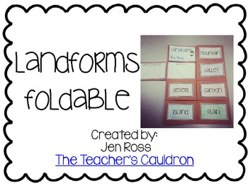 http://www.teacherspayteachers.com/Product/Landforms-Foldable-Freebie-683253