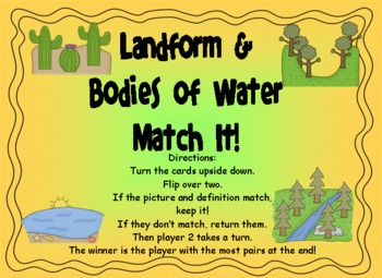 http://www.teacherspayteachers.com/Product/Landforms-Memory-Matching-Game-241968